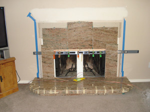 Handyman Robin Handyman Robin creates a granite fireplace surround in Gladstone, Oregon